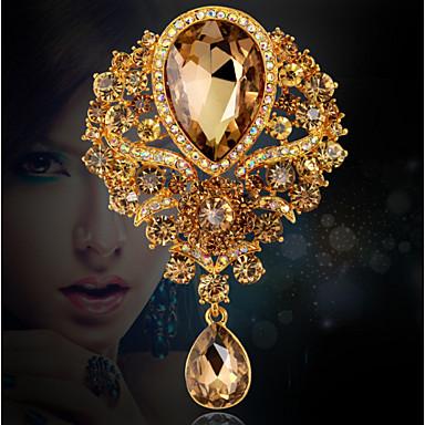Damen Broschen - Krystall, Kubikzirkonia, Strass Luxus, Party, Büro Brosche Gold / Weiß / Blau Für Hochzeit / Party / Besondere Anlässe