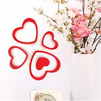 Oblici / 3D Zid Naljepnice 3D zidne naljepnice , PVC 17*15cm 15*13cm 13*11cm 10.5*8.5cm 8.5*6.5cm