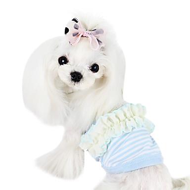 Koirat T-paita Keltainen / Sininen / Pinkki Koiran vaatteet Kesä Muoti