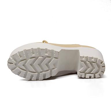 Femme Printemps Beige Similicuir Bottier Chaussures Automne Talon Blanc Noir Plateau Lacet 04814937 rOC1rqwZ