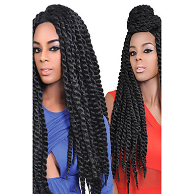 Dark Brown Medium Brown 1b Black Havana Twist Braids Hair