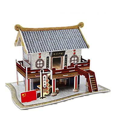 Palapelit 3D palapeli Paperimalli Rakennuspalikoita DIY lelut Kiinalainen arkkitehtuuri Paperi