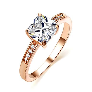 Prstenje sa stavom Kristal imitacija Diamond Legura Moda Pink Zlatan Jewelry Vjenčanje Party 1pc