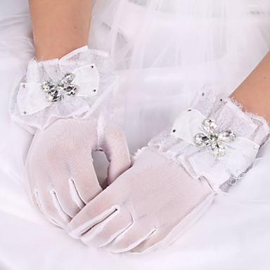 silkki elastinen satiini ranne pituus käsine morsiamen käsineet tyylikäs tyyli