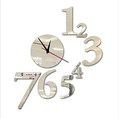 Redonda Moderno/Contemporâneo / Casual / Escritório/Negócio Relógio de parede,Férias / Casas / Inspiracional / Escola/Graduação / Amigos