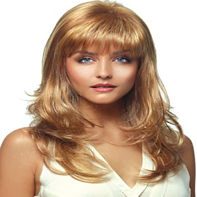 Synthetic Wig Curly Style Capless Wig Blonde Blonde
