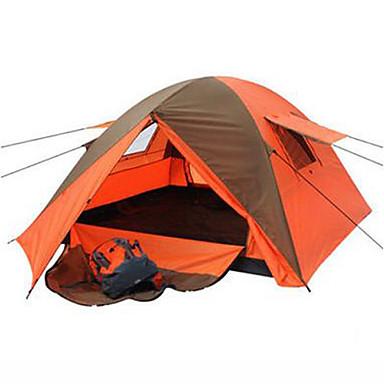 KEUMER 3-4 henkilöä Teltta Kaksinkertainen teltta Ultraviolettisäteilyn kestävä Sateen kestävä Hyönteisiä hylkivä varten CM Yksi huone