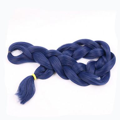 Tranças de caixa 100% cabelo kanekalon Tranças Jumbo / Extensões de Cabelo Natural Tranças de cabelo Diário