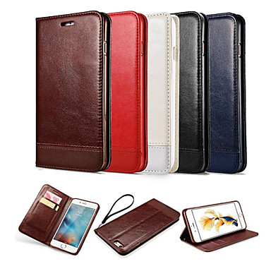 Case For Apple iPhone X iPhone 8 iPhone 6 iPhone 6 Plus Card Holder Wallet with Stand Flip Magnetic Full Body Cases Solid Color Hard PU