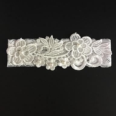 Stretch - Satin Modisch Hochzeitsstrumpfband  -  Strass Blume Strumpfbänder