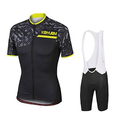 KEIYUEM Kratki rukav Biciklistička majica s kratkim tregericama Muškarci Uniseks Bicikl Biciklizam Hulahopke Kompleti odjeće/odijela