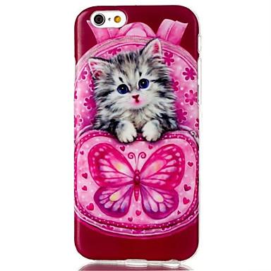 perhonen kissa kuvio TPU materiaali puhelin iPhone 6 / 6s