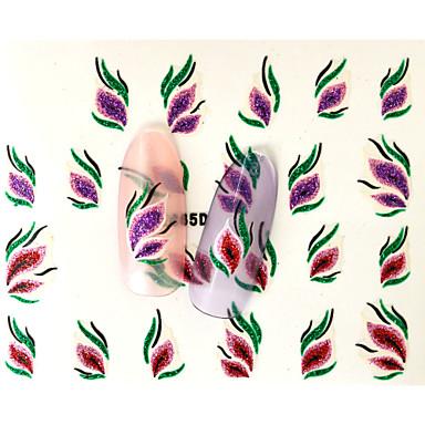 만화 / 꽃 / 러블리-핑거 / 발가락-3D 네일 스티커-이 외-10pcs-6.5*5.2