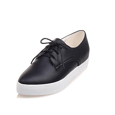 Oxford-kengät - Tasapohja - Naisten kengät - Tekonahka - Musta / Valkoinen - Ulkoilu / Rento / Urheilu / Työ ja velvollisuudet -