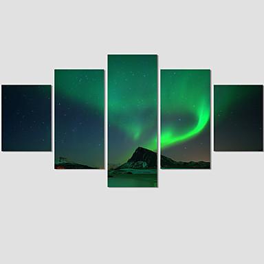 Fantasia / Paisagem / Arquitetura / Moderno Impressão em tela 5 Painéis Pronto para pendurar , Horizontal