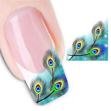 2 Nail Art naljepnica Naljepnica za prijenos vode 3D Nail Naljepnice Ostale dekoracije Cvijet Sažetak Vjenčanje šminka KozmetičkiNail art