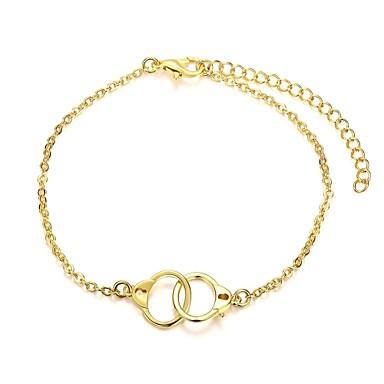 Naisten Ranneketjut minimalistisesta Muoti Kupari Gold Plated Korut Varten Häät Party Päivittäin 1kpl