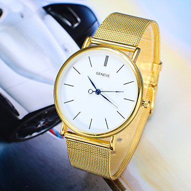 Men's Dress Watch Wrist Watch Steel Band Watches Quartz Silver / Gold Casual Watch Analog Simple Style Fashion - Silver Golden