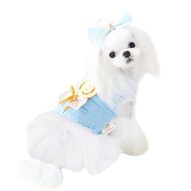 개 티셔츠 강아지 의류 겨울 리본매듭 패션 블루 핑크