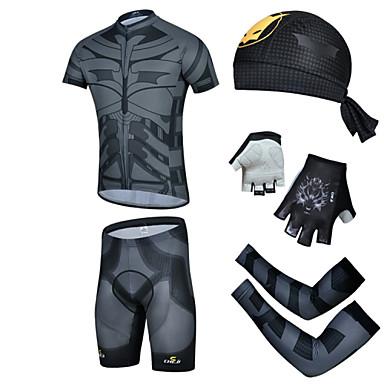 Biciklistička majica s kratkim hlačama Muškarci Kratkih rukava Bicikl Kratke hlače Rukavi Kompleti odjeće Quick dry Ultraviolet Resistant