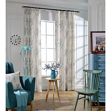 Rypytysnauha Purjerengas Tuplavekki Kynälaskostettu 2 paneeli Window Hoito Kantri, Painettu Makuuhuone Pellava/polyesteriseos materiaali