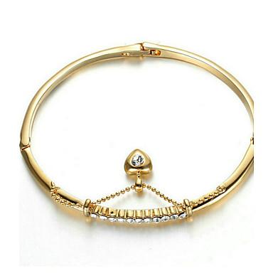 Damen Kubikzirkonia vergoldet Böhmische Herz Ketten- & Glieder-Armbänder - Böhmische / Modisch Gelb Armbänder Für Party / Geschenk