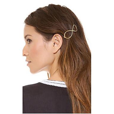 Women's Alloy Hair Clip Silver Golden