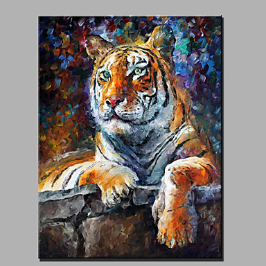 El-Boyalı Hayvan Dikey,Modern Tek Panelli Kanvas Hang-Boyalı Yağlıboya Resim For Ev dekorasyonu