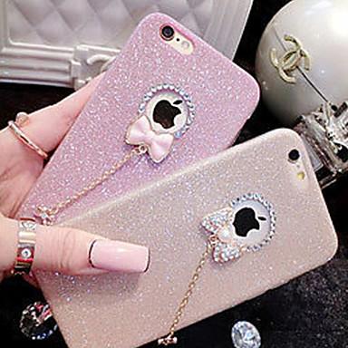 Case For Apple iPhone X iPhone 8 iPhone 5 Case iPhone 6 iPhone 6 Plus iPhone 7 Plus iPhone 7 Rhinestone Back Cover Glitter Shine Soft TPU