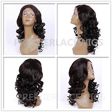 שיער אנושי תחרה מלאה חזית תחרה פאה גלי 130% 150% 180% צְפִיפוּת 100% קשירה ידנית פאה אפרו-אמריקאית שיער טבעי קצר בינוני ארוך בגדי ריקוד