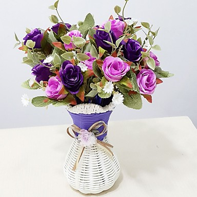 Művirágok 1 Ág minimalista stílusú Rózsák Asztali virág