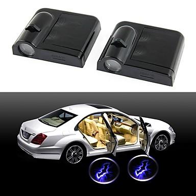 ziqiao porta do carro sem fio de luz bem-vinda 2 montado preto (bat)