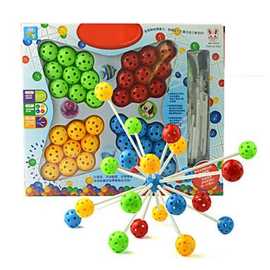 Kocke za slaganje za poklon Kocke za slaganje Igračka model i građenje Cirkularno Plastika 5-7 godina Srebrna Siva Smeđa BijelaIgračke za