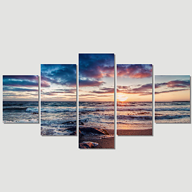 Manzara / Modern Kanvas Beş Panelli Hang Hazır , Yatay