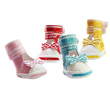 Cachorro Sapatos e Botas Fashion Amarelo Vermelho Azul Rosa claro Para animais de estimação