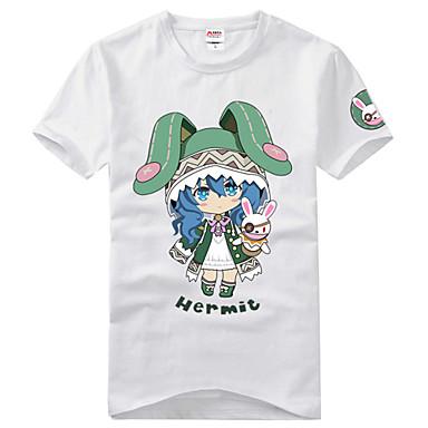 Inspirirana Datum uživo Yoshino Anime Cosplay nošnje Cosplay majica Print Kratkih rukava T-majica Za Uniseks
