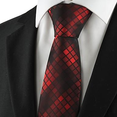 Solmio-Polyesteri,Ruudukko,Musta / Punainen