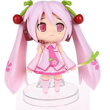 Anime Toimintahahmot Innoittamana Vocaloid Sakura Miku PVC 9 CM Malli lelut Doll Toy