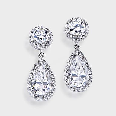 Dame Rhinstein Sølv Legering Dråper Smykker Sølv Kostyme smykker