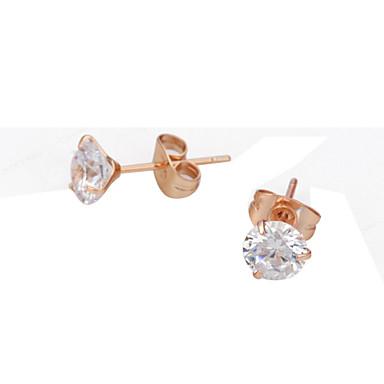Kristalli Birthstones minimalistisesta jäljitelmä Diamond Hopea Ruusukulta Korut Varten