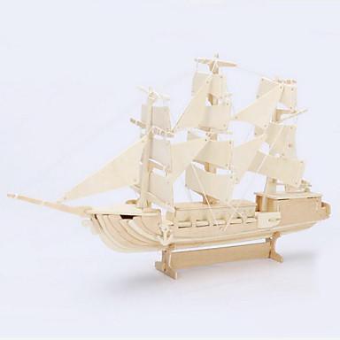 3D-puslespill Puslespill Puslespill i tre Modellsett Tre Modell Leketøy Skip 3D simulering Tre Deler