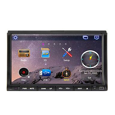 7 tum 2 Din Windows CE 6.0 / Windows CE In-Dash DVD-spelare Inbyggd Bluetooth / GPS / iPod för Stöd / RDS / Rattstyrning / Pekskärm