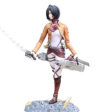 Anime Action Figurer Inspirert av Attack on Titan Mikasa Ackermann 24cm CM Modell Leker Dukke