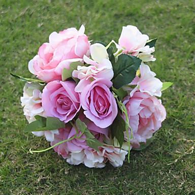Flores artificiais 1 Ramo buquês de Noiva Rosas / Hortênsia / Peônias Flor de Mesa