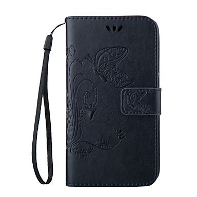 Hülle Für Samsung Galaxy Samsung Galaxy Hülle Geldbeutel / Kreditkartenfächer / mit Halterung Ganzkörper-Gehäuse Schmetterling Weich PU-Leder für S8 Plus / S8 / S7 edge plus
