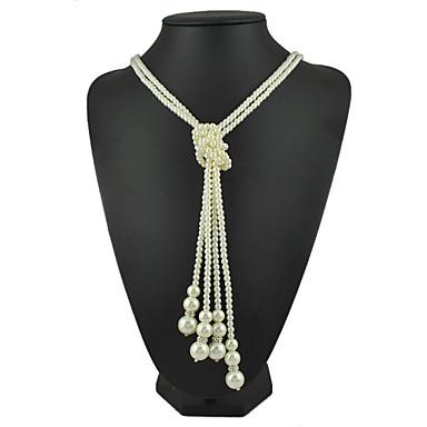 Damen Halskette - Künstliche Perle Modische Halsketten Für Jahrestag, Geschenk, Normal