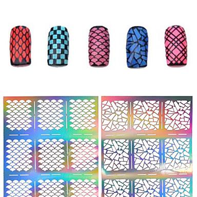 Moldes de Unhas Acrílicas 3D-Flôr- paraDedo- dePVC- com1pcs nail sticker template-7.5*13cm
