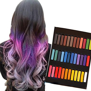 36 cores pastéis de giz temporários para o cabelo não-tóxico pastéis de coloração capilar furar ferramentas de estilo DIY