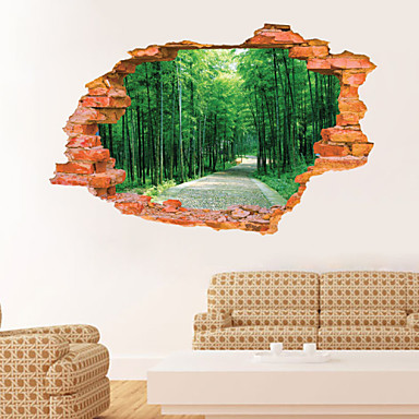 Landschaft Botanisch Wand-Sticker 3D Wand Sticker Dekorative Wand Sticker, Vinyl Haus Dekoration Wandtattoo Wand