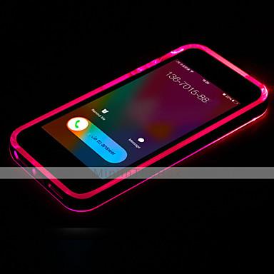 iphone 7 artı çağrı iphone 6s 6 için durum şeffaf TPU geri yanıp led artı